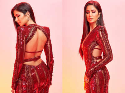 Katrina Kaif flaunts her sexy back in a red gown!