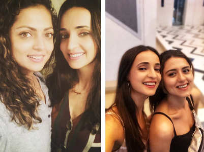 Drashti-Ridhi wish their BFF Sanaya Irani