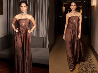 Nushrat Bharucha's sexy off shoulder tube top dress is breaking the internet