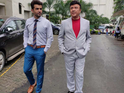 Anu Malik on the sets of Superstar Singer