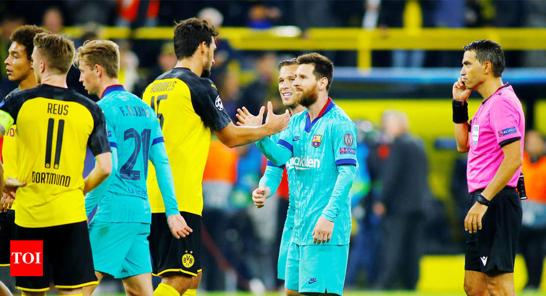 big sale 9179d 6bf0b Champions League: Borussia Dortmund draw 0-0 with Barcelona ...
