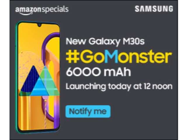 Samsung Galaxy M30s with 6000mAh battery and triple rear camera to launch in India today