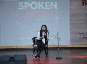 Poets of BSSS on IGNIS's stage present poetry and shayari