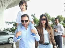 Saif, Bebo & Tim twin in blue and white