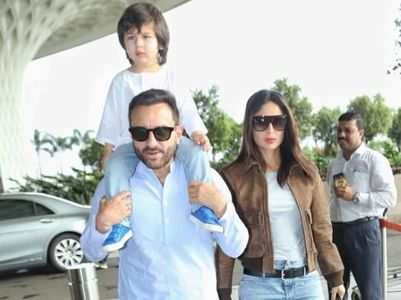 Saif, Bebo & Tim twin in blue and white