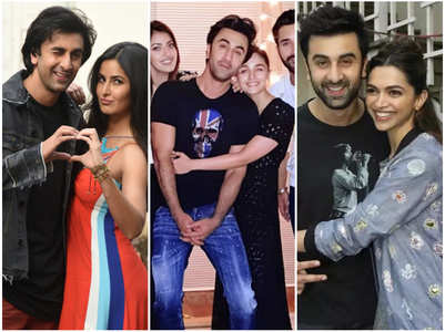 Ranbir hugs it out with Alia, Kat & Deepika