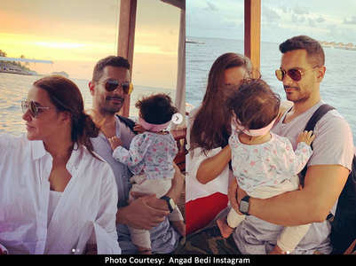 Neha-Angad pen heartfelt note for daughter
