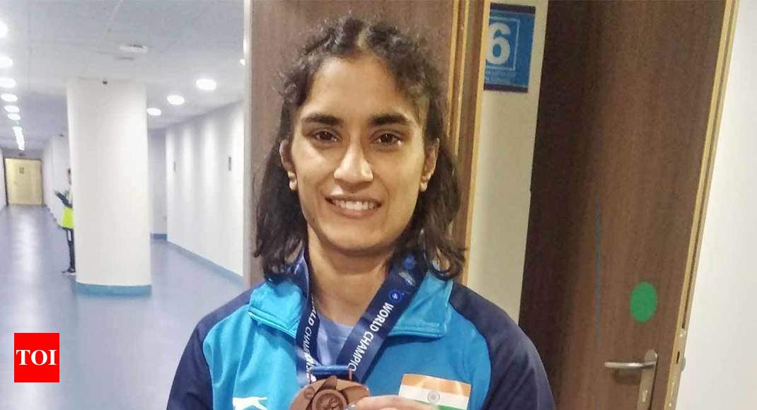 Vinesh Phogat locks Olympic quota with bronze at World Wrestling, Pooja Dhanda in line for second medal -