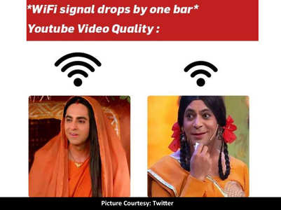Bollywood memes on 'WiFi drops by one bar'
