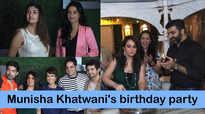 Juhi Parmar, Gurmeet Choudhary, Karan Mehra and others at Munisha Khatwani's birthday party
