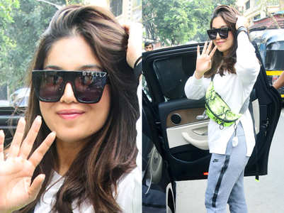 You can't miss Bhumi Pednekar's BIG stylish shades