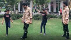 Inspiring! Vidyut Jammwal teaches 9-year-old niece to skip on one leg