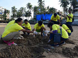 Over 500 students clean up Juhu beach on International Coastal Clean-up Day
