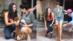 Janhvi Kapoor playing with a dog is too cute to miss!