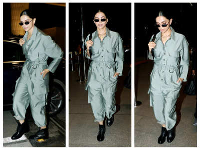 Pics: DP makes a stylish airport appearance