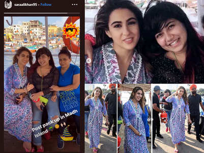 Pics: Sara Ali Khan shoots at the Madh Island