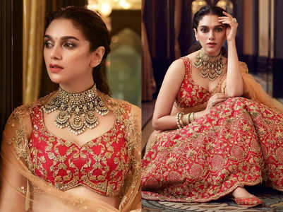Aditi Rao Hydari's red bridal lehenga is beyond BEAUTIFUL