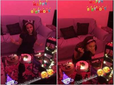 Srishty Rode gets b'day surprise from friends