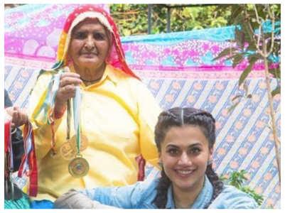 Pic: Taapsee pays tribute to Prakashi Tomar