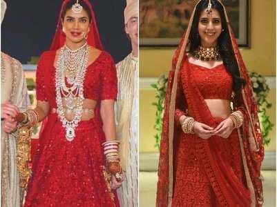 Simran Pareenja copies Priyanka's bridal look