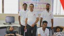 Blood donation camp organized at city campus during Pharmacy week