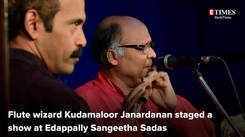 Kudamaloor Janardanan performs in Kochi