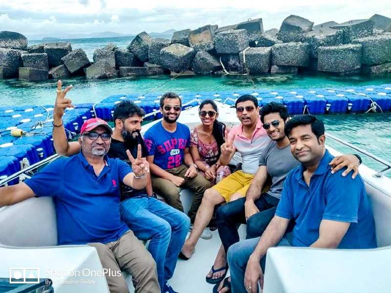 Sudheer Babu shares a jolly boat ride video of the V team