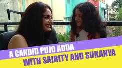 A candid pujo adda with 'Nishir Daak' actors Sairity Banerjee and Sukanya Chatterjee