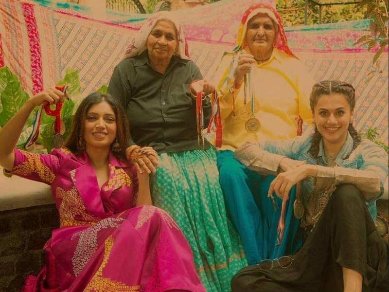 Watch: Bhumi Pednekar dances with 'Shooter Dadis' Chandro and Prakashi Tomar to 'Womaniya'