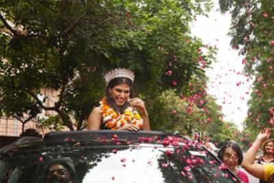 A warm homecoming for Miss Diva Supranational 2019 Shefali Sood