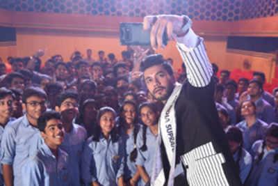 Varun Verma visits his alma mater, gym and an NGO
