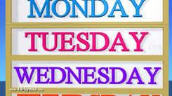 Popular Children English Nursery Rhyme 'Days of the Week' - Kids Nursery Learning Video In English