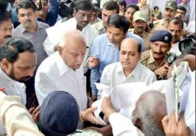 Image result for BS Yediyurappa feels heat in Belagavi, then savours central relief