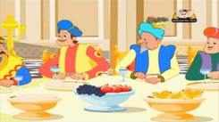 Kids Popular Story In Marathi 'Akbar And Birbal Are Greedy' - Akbar And Birbal Story For Kids