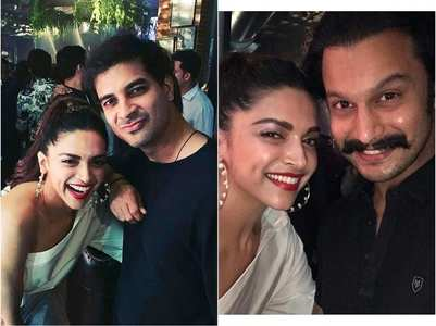 Photos: Deepika poses with the cast of '83'