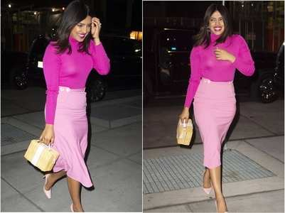 Pics: Priyanka paints the town pink
