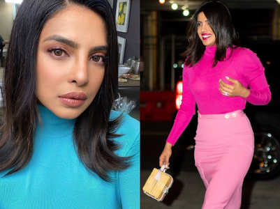 Priyanka Chopra flaunts her sexy curves in high-neck pullovers!