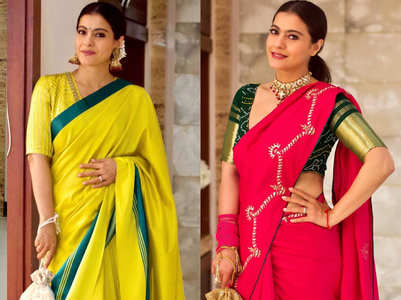 5 breathtaking saris worn by Kajol this festive season