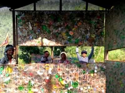 Viral: This couple used 26k plastic bottles found in mountains to build a homestay
