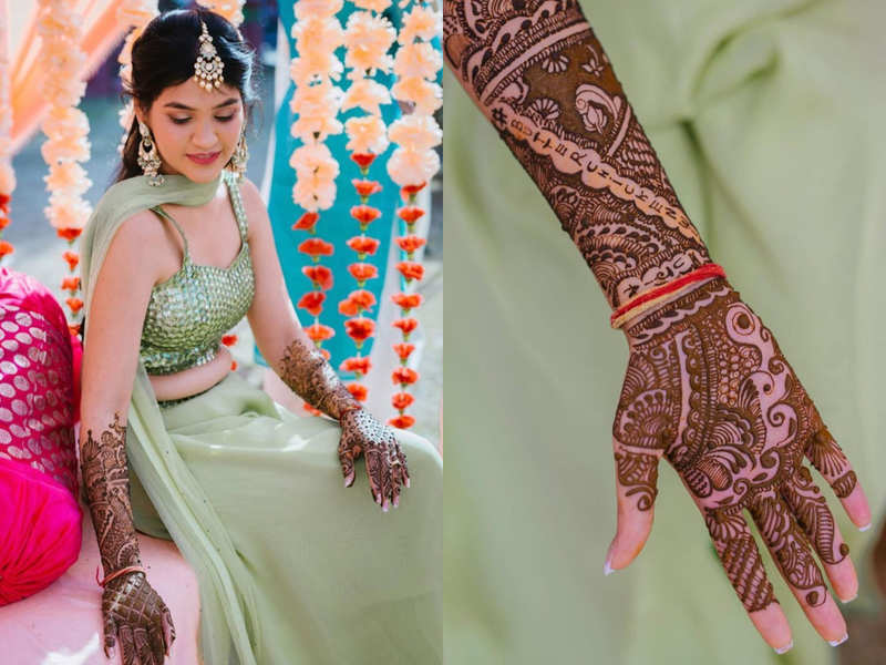 This bride's butter chicken with bhujia mehendi is trending