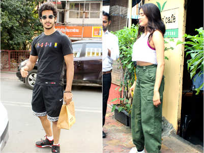 Janhvi and Ishaan step out for a lunch date