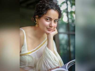 Pics: Kangana stuns once again in a white sari