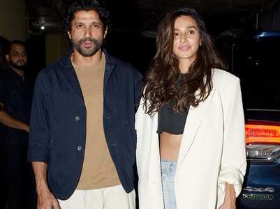 Farhan - Shibani at The Sky Is Pink screening