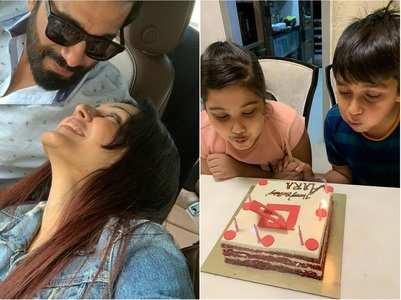 Kamya, Shailabh celebrate their kids' b'days