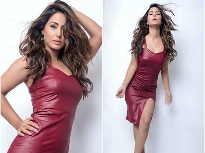 Hina Khan looks sultry in a bodycon dress, pics