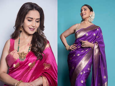 5 gorgeous silk saris worn by Madhuri Dixit