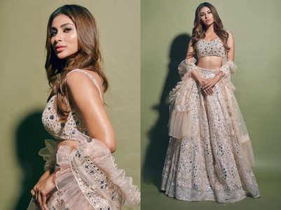 Mouni Roy's mirror work lehenga is perfect for your bestie's wedding