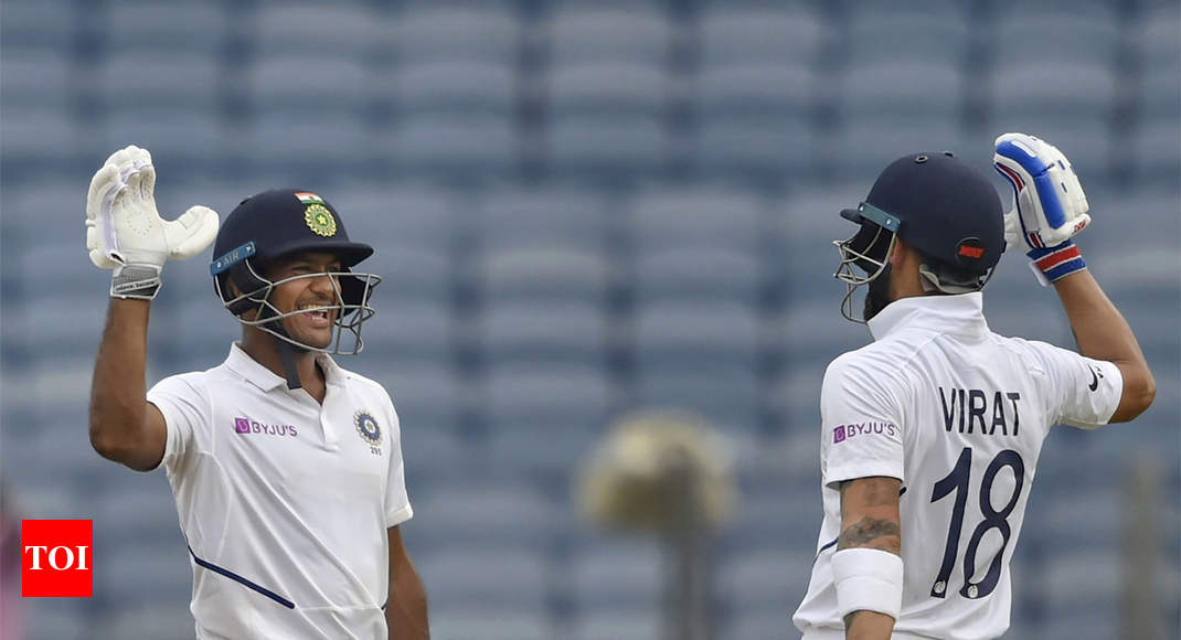 India vs South Africa, 2nd Test: Mayank Agarwal, Virat Kohli power India to 273/3 on day one - Times of India