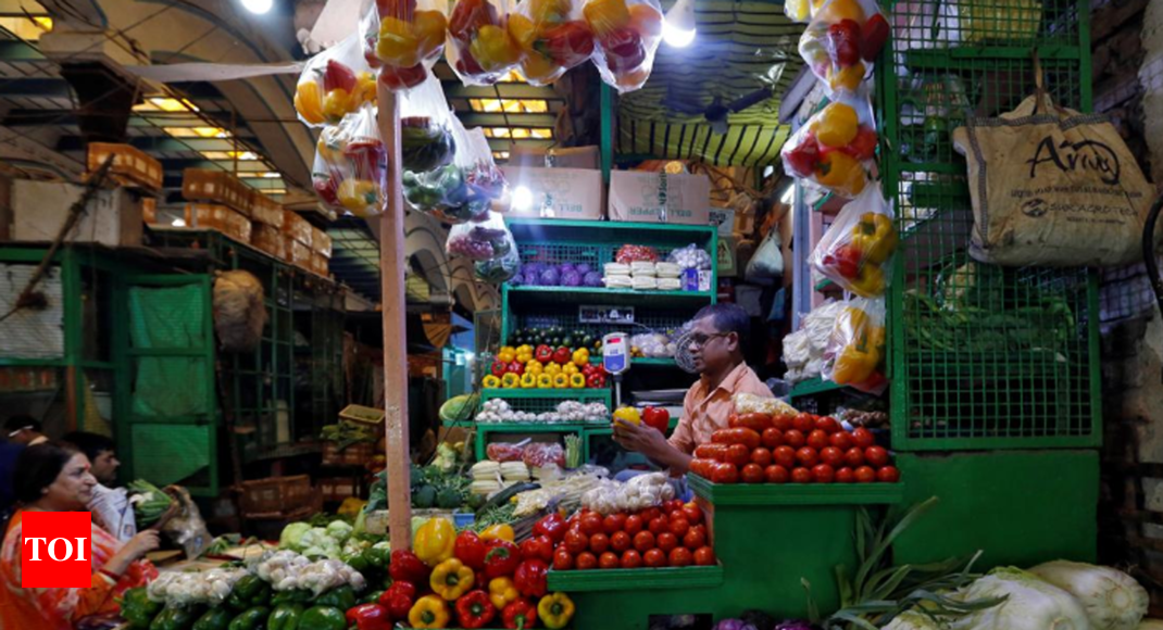 Retail inflation surged in September but won't 'bring tears' to RBI: Poll - Times of India thumbnail