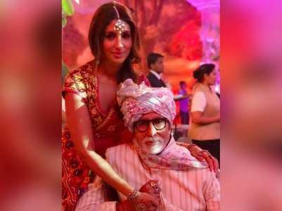 Shweta's wish for Big B on his 77th birthday!